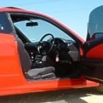 Red door trim